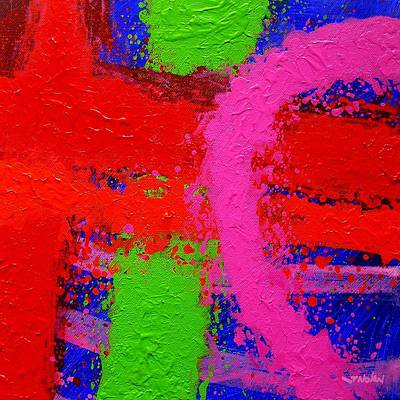 Red Abstract Painting - Imma   X by John  Nolan