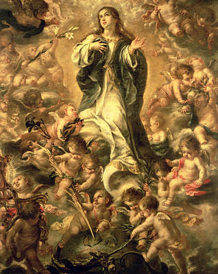 Heavenwards Painting - Immaculate Conception by Juan de Valdes Leal