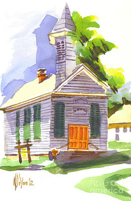 Immanuel Lutheran Church In Springtime Print by Kip DeVore