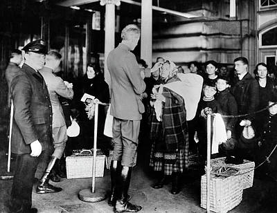 Ellis Island Photograph - Immigration Health Checks by National Institutes Of Health