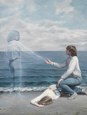 Spiritual Being Painting - Immortality by Lucie Bilodeau