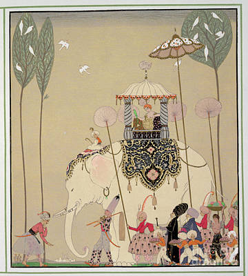 Hometown Painting - Imperial Procession by Georges Barbier