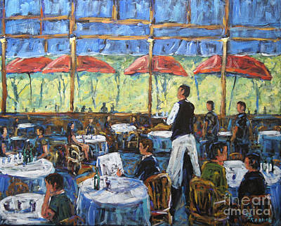 Quebec Cities Painting - Impresionnist Cafe By Prankearts by Richard T Pranke