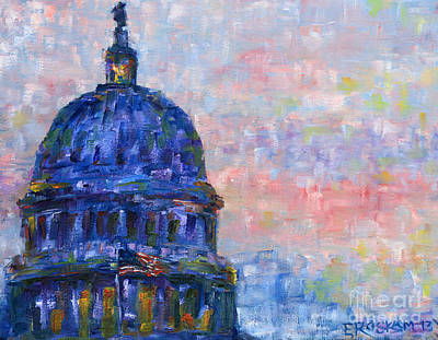 Capitol Building Painting - Impression Dome by Elizabeth Roskam