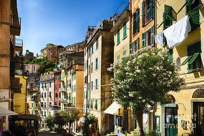 House On The Hill Photograph - Impression Of Riomaggiore by George Oze