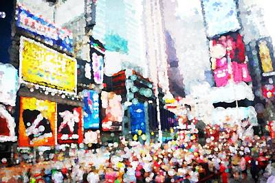 Impression Of Times Square Print by Mo Barton