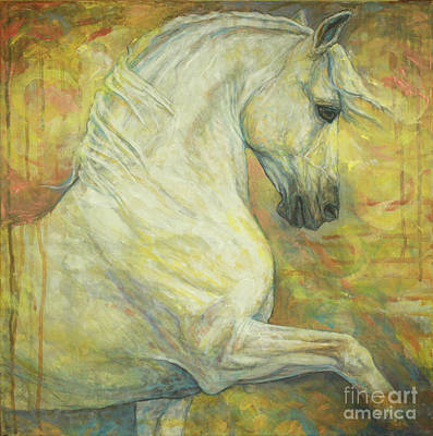 Dressage Painting - Impression by Silvana Gabudean