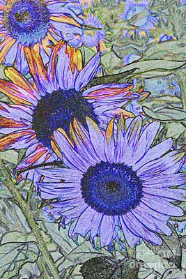 Digital Sunflower Digital Art - Impressionism Sunflowers by Christiane Schulze Art And Photography