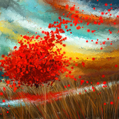 Impressionistic Beauty- Autumn Impressionist Print by Lourry Legarde