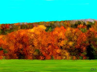 Leaves Painting - Impresssionist Autumn Trees by Bruce Nutting