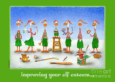 Ducks Painting - improving your elf esteem...by Will Bullas by Will Bullas