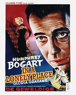 In A Lonely Place Movie Poster - Bogart Print by MMG Archive Prints