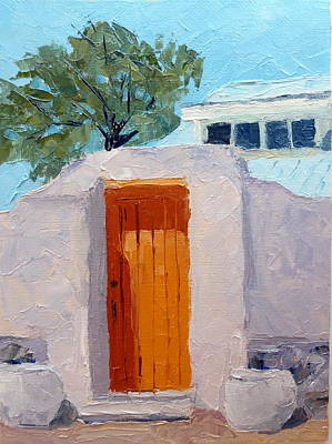Southwest Gate Painting - In Abiquiu Nm by Susan Woodward