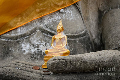 Buddhism Photograph - In Buddha's Hands I by Dean Harte