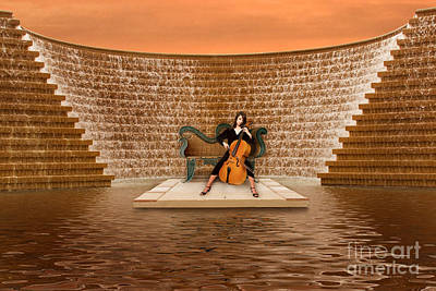 Chairs Photograph - In Concert Around The Fountain In Saint Petersburg by Jim Swallow