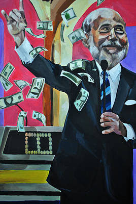 Federal Government Painting - In Debt We Trust by Stuart Black
