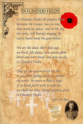 Ww1 Photograph - In Flanders Fields by Andrew Fare