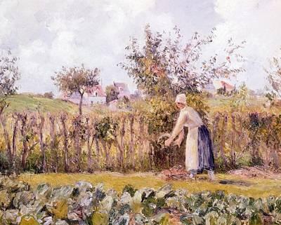 In Garden Print by Camille Pissarro