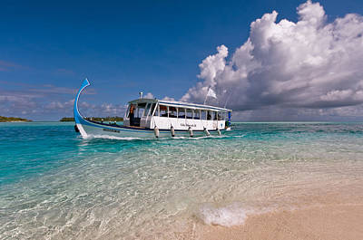 In Harmony With Nature. Maldives Print by Jenny Rainbow