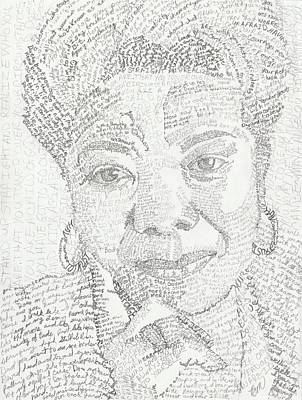 African-american Drawing - In Her Own Words Maya Angelou by Beverly Marshall
