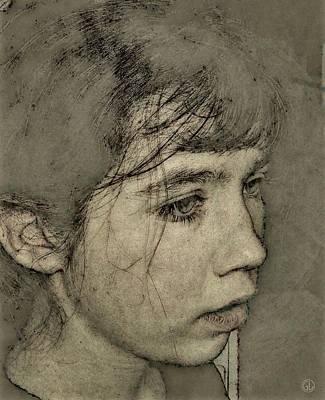 In Her Own World Print by Gun Legler