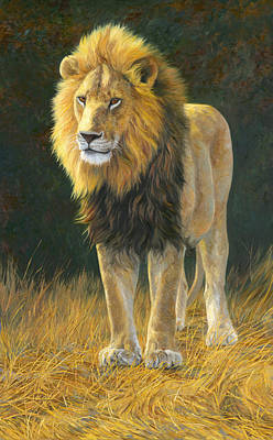 Lion Painting - In His Prime by Lucie Bilodeau