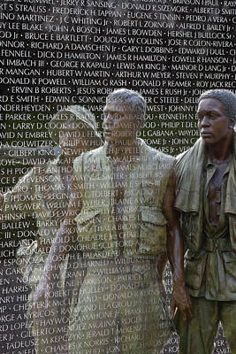 Vietnam War Memorial Photograph - In Life And Death by Janet Fikar