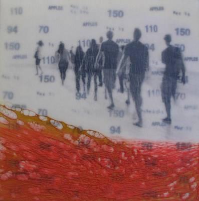 Queue Painting - In Line by Nicki Stewart
