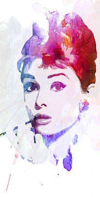 Audrey Hepburn Mixed Media - In Love With Audrey by Steve K