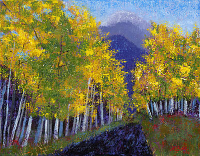 In Love With Fall River Road Print by Margaret Bobb