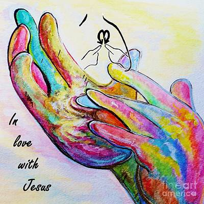 Bible Painting - In Love With Jesus by Eloise Schneider