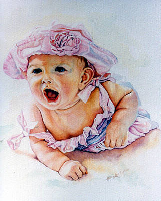 Childrens Portraits Painting - In My Opinion by Hanne Lore Koehler