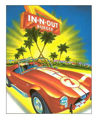 Burgers Digital Art - In N Out Burger Shelby by Desiderata Gallery