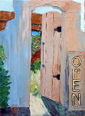 Southwest Gate Painting - In Old Mesilla Nm by Susan Woodward