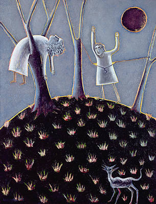 In Praise Of Expectation, 1991 Oil On Canvas Print by Celia Washington