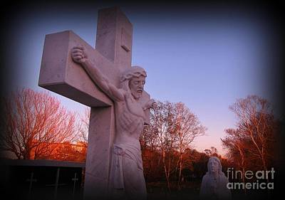 Christian Art . Devotional Art Photograph - In Sacrifice Is Peace by John Malone