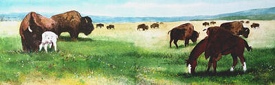 Painting - In Search Of The White Calf by John Guthrie