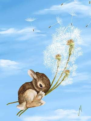 Dandelion Painting - In The Air by Veronica Minozzi