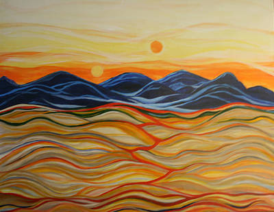 In The Beginning Print by Kathy Peltomaa Lewis
