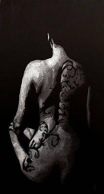 Impasto Oil Photograph - In The Flesh X by Alison Schmidt Carson