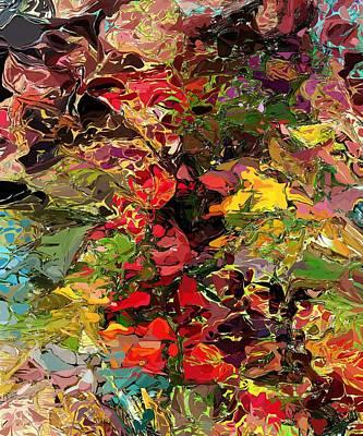 Floral Digital Art - In The Garden by David Lane
