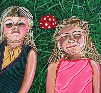 In The Garden Print by Sandra Marie Adams