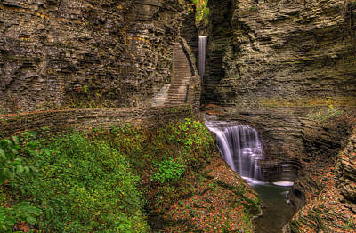 In The Gorge Print by Sharon Batdorf