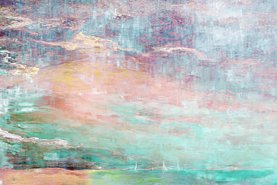 Abstract Seascape Mixed Media - In The Light Of Each Other by Jaison Cianelli