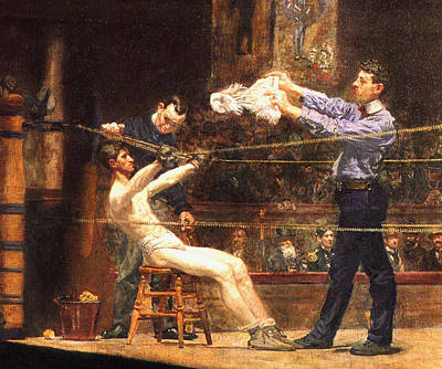 In The Mid Time Detail Print by Thomas Eakins