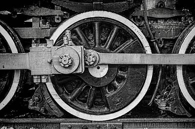 Locomotive Wheels Photograph - In The Middle by Ken Smith