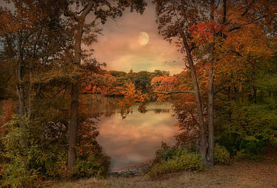 In The Midst Of Autumn Print by Robin-lee Vieira