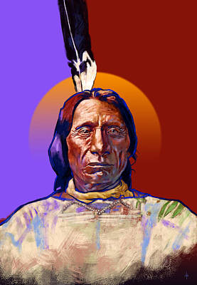 In The Name Of The Great Spirit Print by Arie Van der Wijst