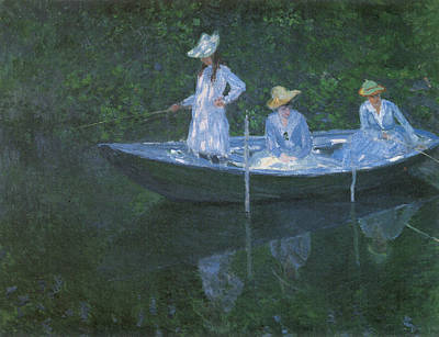 In The Norvegienne Print by Claude Monet