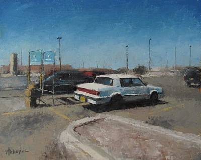 Walmart Painting - In The Parking Lot by Oscar Arroyo
